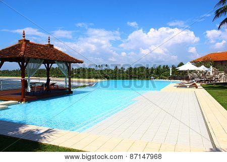 Pool and gazebo at the Saman Villas
