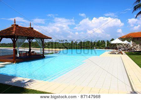 Pool and gazebo at the Saman Villas