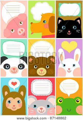 cute animal labels