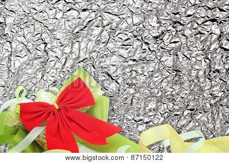 Shiny  Bronze Leaf And  Ribbon