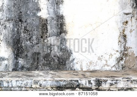 Vintage Or Grungy Dirty White Cement Wall Background, Texture