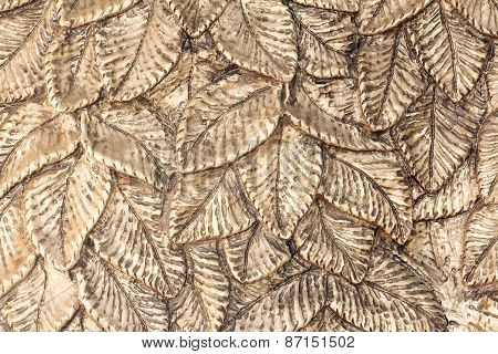 Silver metal leaf texture.