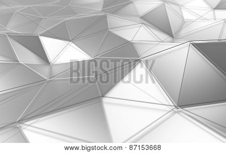 Abstract 3d rendering of white surface.