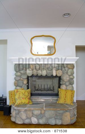 Newly Remodeled Fireplace