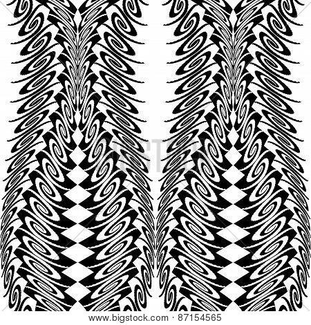 Design Seamless Monochrome Vertical Decorative Pattern