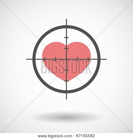 Crosshair Icon With A Heart