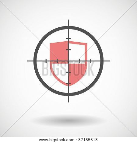 Crosshair Icon With A Shield