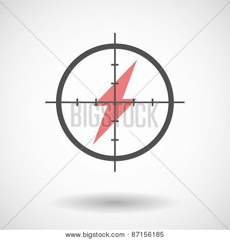 Crosshair Icon With A Lightning