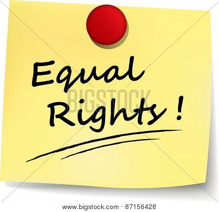Equal Rights Note