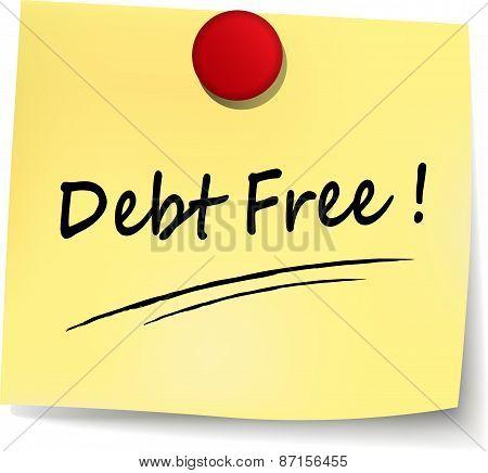 Debt Free Note