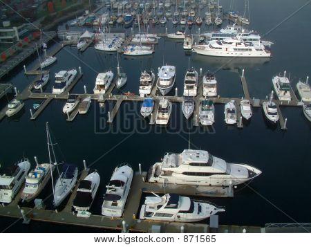 Barcos en el muelle