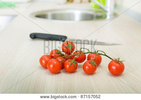 Tomato On Countertop
