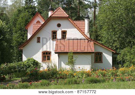 Beautiful white brick house