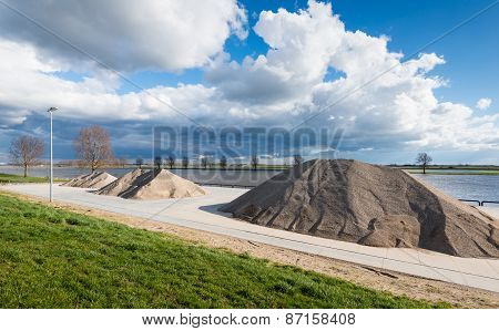 Heaps Of Sand And Gravel