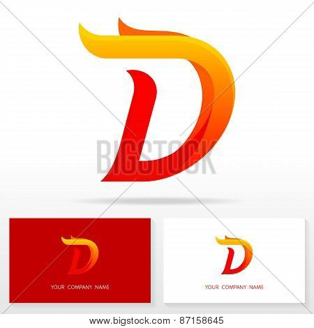 Letter D logo icon design template elements - Illustration