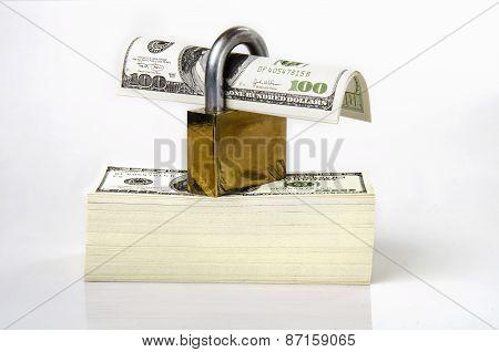 key locked on money