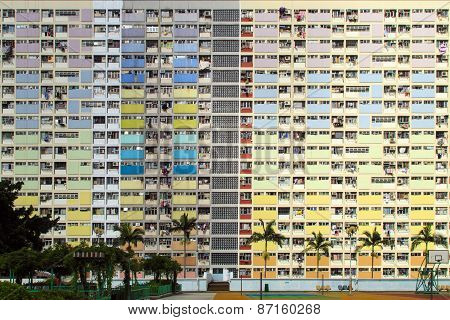 Rainbow Estate in Choi Hung, Hong Kong