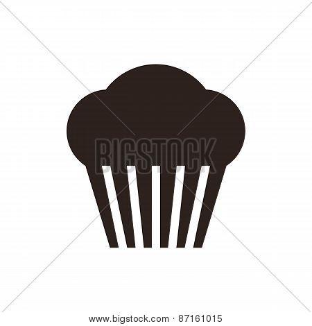 Muffin. Cupcake Icon
