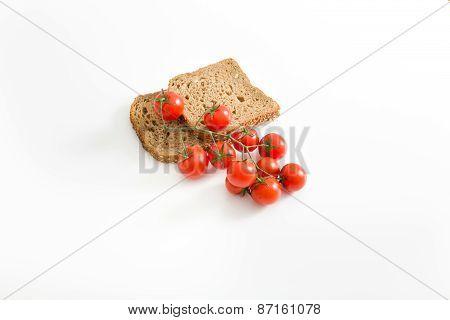 Bread Slices With Tomato
