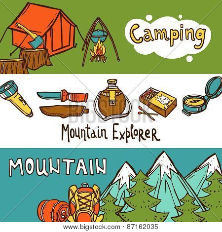 Camping Banners Horizontal