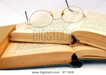Vintage Books And Glasses #5