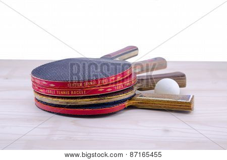 Bunch Of Old Table Tennis Rackets