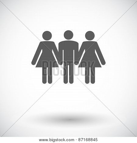 Group sex sign.