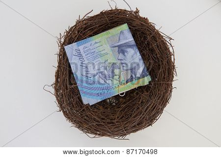 Australian Notes in a Nest