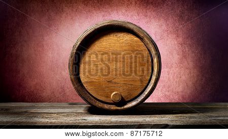 Barrel on pink
