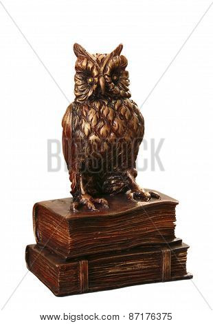 Wooden Owl On Book