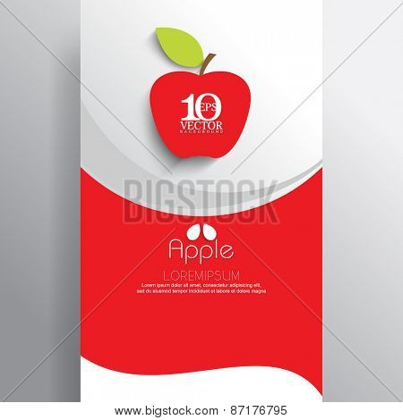 eps10 vector red apply emblem icon with wave elements business leaflets background