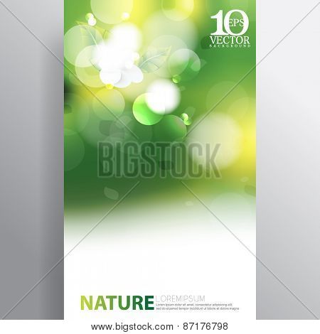 eps10 vector bokeh spring light flares nature background design