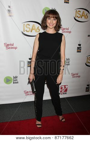 LOS ANGELES - APR 1:  Julie Ann Emery at the 6th Annual Indie Series Awards at the El Portal Theater on April 1, 2015 in North Hollywood, CA