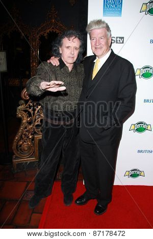 LOS ANGELES - APR 1:  Donovan, David Lynch at the The Music Of David Lynch at the Ace Hotel on April 1, 2015 in Los Angeles, CA