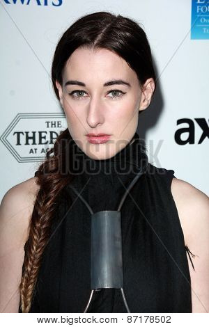 LOS ANGELES - APR 1:  Zola Jesus at the The Music Of David Lynch at the Ace Hotel on April 1, 2015 in Los Angeles, CA