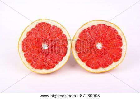 Two Halves Of A Grapefruit