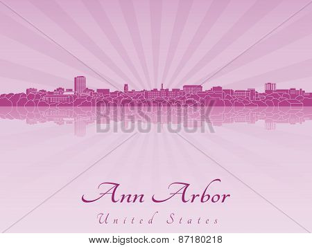 Ann Arbor Skyline In Purple Radiant Orchid
