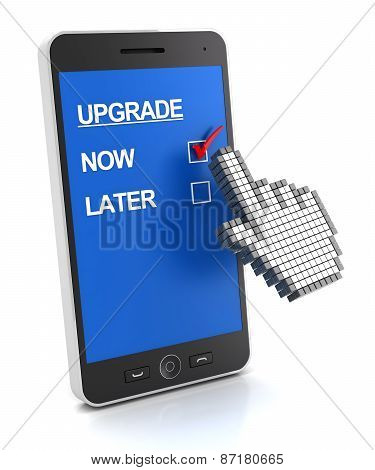 Mobile phone upgrade concept