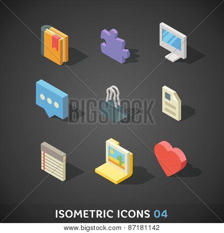 Flat Isometric Icons Set 4