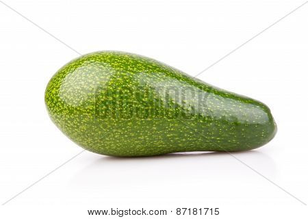 Uncut Ripe Avocado Isolated