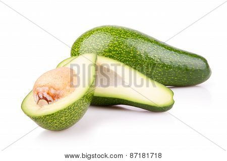 Some Ripe Avocado Isilated