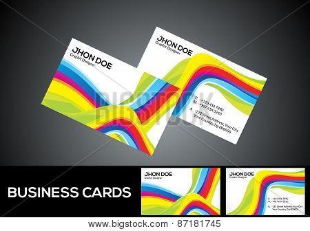 Abstract Rainbow Business Card