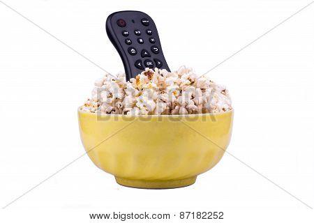 Popcorn And Remote Control