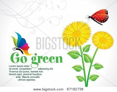 Abstract Artistic Go Green Background