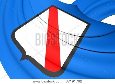 Flag Of Campania, Italy.