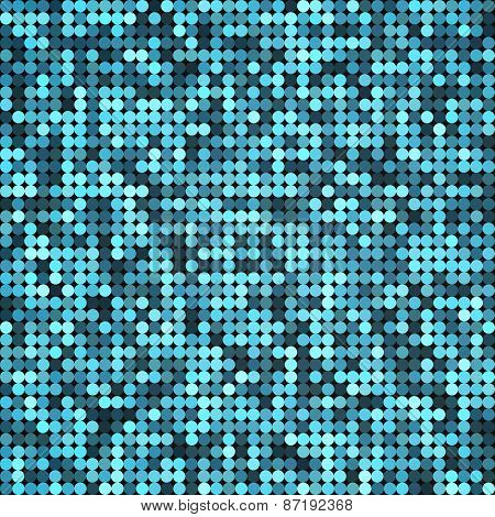 Vector silver abstract retro vintage pixel mosaic background of sparkling sequins for design. Blue d