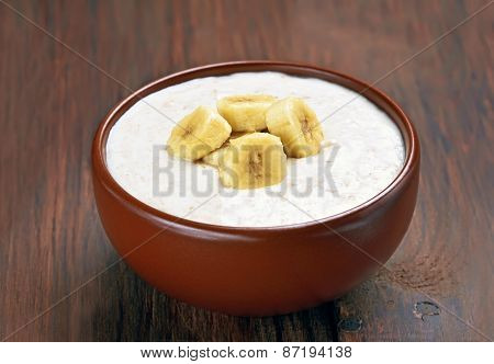 Porridge Oats With Banana Slices
