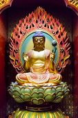 image of gold tooth  - Detail of the Buddha Tooth Relic Temple in Singapore - JPG