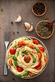 stock photo of spaghetti  - Italian cuisine - JPG