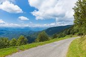 picture of naturel  - Winding road D188 in the Pyrenees in France - JPG
